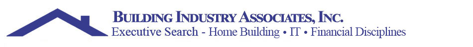 Logo: Building Industry Associates, Inc. - Executive Search in Home Building, Information Technology, Financial Disciplines